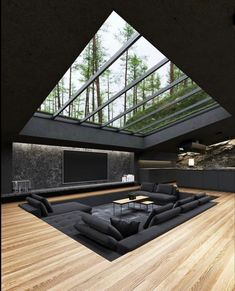 Home Room Design, Dream Home Design, Modern House Design, Home Interior Design, Interior Architecture, Villa Design, Black Architecture, Architecture Company, Modern House Facades