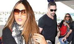Sofia Vergara and husband Joe Manganiello hold hands at LAX