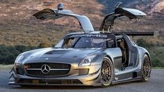 Mercedes SLS GT3. Well, I guess it makes getting the kids in and out of their car seats easier!