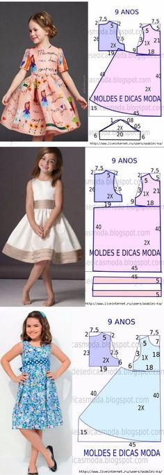 For children:separator:For children Girls Dresses Sewing, Frocks For Girls, Dresses Kids Girl, Sewing Clothes, Kids Outfits, Sewing Coat, Baby Girl Dress Patterns, Dress Sewing Patterns, Skirt Patterns