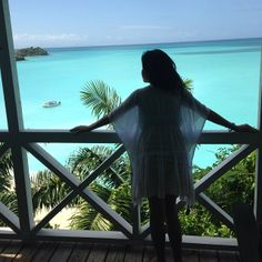 Looking out at the deep blue see in #antigua at #cocoshotel ! #speechless
