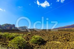 Qdiz Stock Images Mountains landscape on Tenerife island,  #blue #Canary #cloud #day #island #landmark #landscape #mountain #national #nature #park #rock #sky #Spain #spring #summer #Teide #Tenerife #Travel #view