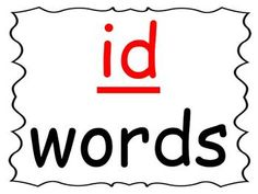 Students practice reading words in the -id word family as you go through the power point presentation. This is a great activity for introducing a new word family or for rhyming. Because it is a ppt. file, you can change it to add automatic timings on it so students can work through it on a computer independently.