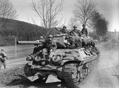 """Wolverine"" GMC Wolverine) 644 th tank destroyer battalion of the U. near the German town of Olpe. The battalion were part of the infantry division."