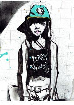 terbywonder: tonite #op'sartworkissolovely #i'mafan #illustration