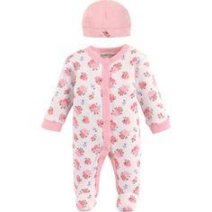 Luvable Friends Newborn Baby Preemie Sleep N Play & Cap, Newborn Boy's, Multicolor