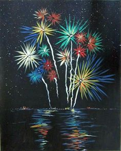 Northern Lights - Muse Paintbar Events Painting Classes Painting Calendar Paint and Wine Classes Art Adulte, Fireworks Art, Fireworks Quotes, How To Draw Fireworks, Birthday Fireworks, Fireworks Pictures, Disney Fireworks, Fireworks Background, Colors