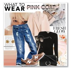"""""""Hey, Girl: Pretty Pink Coats"""" by lidia-solymosi ❤ liked on Polyvore featuring Helmut Lang, Tommy Hilfiger, Chloé, New Balance, Fendi and pinkcoats"""
