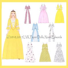 Princess Olivia Paper Doll by LVKPaperDolls on Etsy