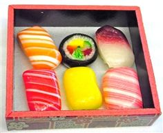 Sushi Candy - the candies that look like Sushi. Beautiful and delicious.
