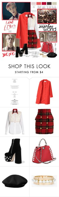 """"""",,I want to dream more...."""""""" by purplecherryblossom ❤ liked on Polyvore featuring StyleNanda, See by Chloé, Miu Miu, Balmain, Fendi, kangol, Chico's and Trifari"""