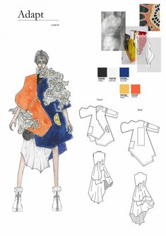 adapt - ArtsThread - The Effective Pictures We Offer You About fashion style A quality picture can tell you many things - Mise En Page Portfolio Mode, Fashion Portfolio Layout, Fashion Design Sketchbook, Fashion Illustration Sketches, Illustration Mode, Fashion Design Drawings, Fashion Sketches, Portfolio Design, Mise En Page Lookbook
