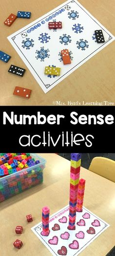 Number sense activities for kindergarten and first grade all year long! Easy prep for you and FUN for your students! $
