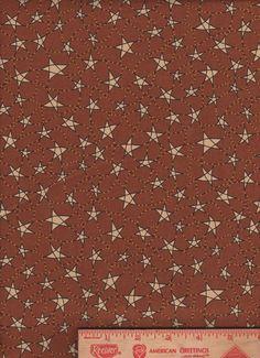 Folk Art Rusty Star country farm kitchen fabric curtain Valance #Handmade #Country