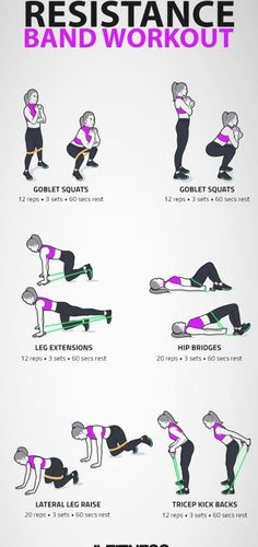 Leg Workout With Bands, Leg Workout At Home, Excersise With Bands, Excersise Band Workout, Workout Board, Wod Workout, Boxing Workout, Workout Plans, Excercise
