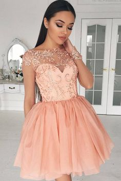 Homecoming dresses are different from the prom ones. Nevertheless, any style works for these dresses, you just need to pick the color and the length!