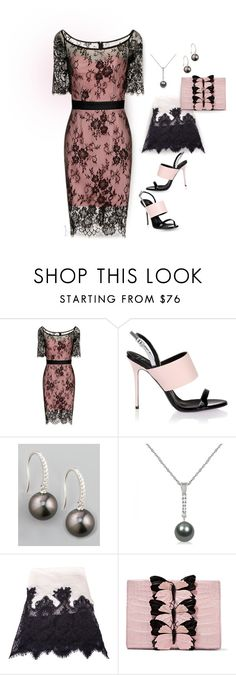 """""""A pretty girl is nothing if she has an ugly heart."""" by grownuppaperdolls ❤ liked on Polyvore featuring Giuseppe Zanotti, Eli Jewels, Allurez, Valentino, Nancy Gonzalez and WearIt"""