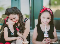 Retro Pin-up inspired Mother-Daughter Photo Shoot / Shaunae Teske Photography
