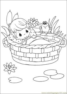 Coloring Pages 004 (Cartoons > Precious moments) - free printable coloring page online