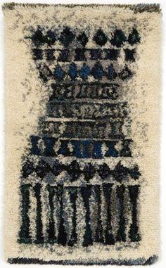 Leena-Kaisa Halmeen Kuura vuosi 1952 Rya Rug, Textiles, Small Canvas, Penny Rugs, Textile Art, Contemporary Style, Weaving, Art Deco, Carpet