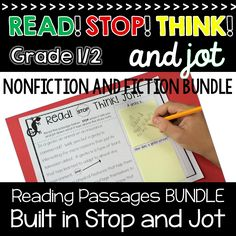 Fiction and Nonfiction Reading passages with Built in Stop and jot Focus on Making inferences and using text evidence 2nd Grade Reading, Guided Reading, Reading Resources, Reading Activities, Reading Passages, Reading Comprehension, Text Evidence, Making Inferences, Literacy Stations