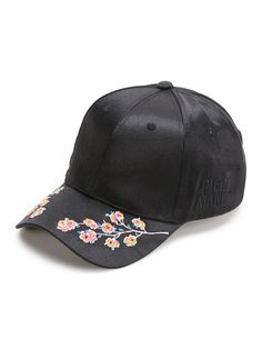 SheIn offers Black Flower Embroidery Baseball Cap & more to fit your fashionable needs. Embroidery Shop, Flower Embroidery Designs, Embroidery Ideas, Beginner Embroidery, Bone Bordado, Stylish Caps, Cute Caps, Hand Embroidery Tutorial, Embroidered Clothes
