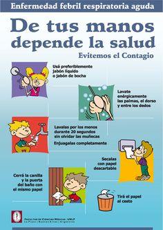 De tus manos depende la salud. Durante la temporada de gripa, es necesario lavarse las manos muy bien y durante varias veces al dia .