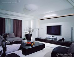 Modern Chinese living room decorating pictures