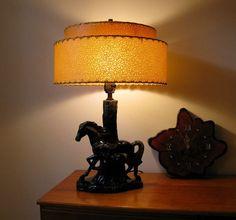 Mid Century Retro Western Theme Lamp