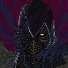 Noob Saibot, Mortal Kombat Art, Mileena, Game Character Design, Dark Fantasy Art, The Darkest, Spiderman, Superhero, Fictional Characters