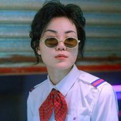 Chungking Express (1995) Film Aesthetic, Summer Aesthetic, Faye Wong, Chungking Express, 90s Art, Hong Kong Movie, Blue Lantern, Twitter Icon, Love Film