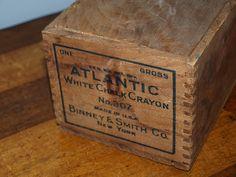 Vintage Redefined: Antique Wooden Crayon Chalk Box