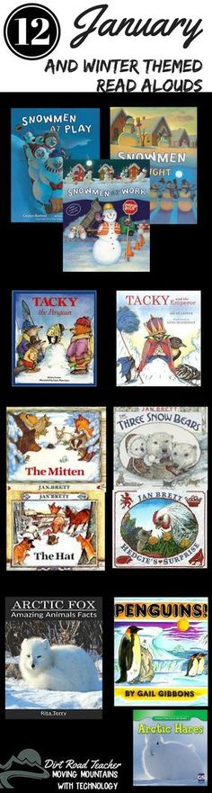 Some of my favorite winter read alouds paired with comprehension skills and printables! Just what I need to make January read alouds engaging and meaningful! The Mitten, The Hat, The Three Snow Bears (Jan Brett author study), Tacky the Penguin, Snowmen at