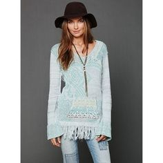 Free People Fringe Tunic Very good used condition. Some of the fringe has gotten tangled in itself but it doesn't affect the look of the top. Beautiful, rare FP sweater. It's a small but it runs large-best fit for a medium or large. I wish it fit me :( make a reasonable offer! Open to trades for other FP sweaters or rare thermals. Free People Sweaters V-Necks