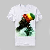 Barba rasta reggae viejo arte del graffiti bob camiseta fresca modal algodón suave cómodo bob marley camiseta