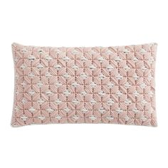 Coussin SILAÏ rectangle rose-gris - GAN RUGS