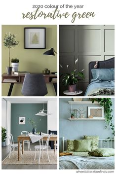 Spring Home Decor, Home Decor, Colour Combinations Interior, Room Colors, Home Office Colors, Bedroom Decor, Colorful Decor, Green Home Decor, Relaxing Colors