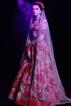 Deepika Padukone pink floral Sabyasachi wedding lehenga. Click on picture to see Sabyasachi lehenga price. #Frugal2Fab Deepika Ranveer, Deepika Padukone Style, Ranveer Singh, Deepika Padukone Lehenga, Deepika Singh, Aishwarya Rai, Floral Lehenga, Lehenga Choli, Yellow Lehenga
