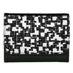 Cool Black and White Trendy Stylish Pattern Wallets - black gifts unique cool diy customize personalize