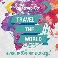 A MEGA-PAGE going through all the ways you can afford to travel. Use this as a blueprint to plan how you'll pay for that trip! Read here: http://www.nomadwallet.com/afford-to-travel-the-world/