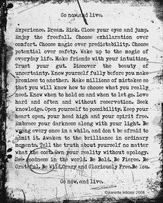 172 Words to Free your Soul from poet Jeanette Leblanc.  via Elephant Journal, thanks @Kate Bartolotta !