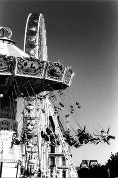 Paris jardin des tuileries, black and white film, analog