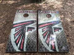 ATL Falcons Cornhole Set With Bean Bags – Cornhole By Blake