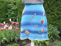 Miniröcke - Bunter Baumwoll Strickrock Frieda Gr. M - ein Designerstück von Lotta_888 bei DaWanda
