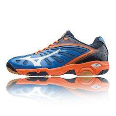 best cheap 57ebe 811f4 Mizuno Wave Volcano Mens Orange Blue Tennis Court Badminton Shoes Trainers    Trainers   Men s Shoes
