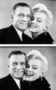 Marilyn Monroe and Laurence Olivier. Photos by Milton Greene, 1956.