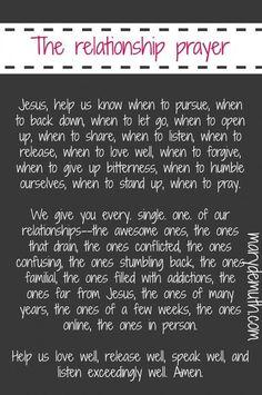 The Relationship Prayer