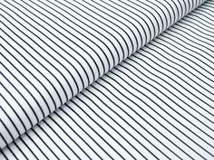 Stoff Streifen - BW Gewebe - Streifen weiß/schwarz - ein Designerstück von die-fadenfabrik bei DaWanda