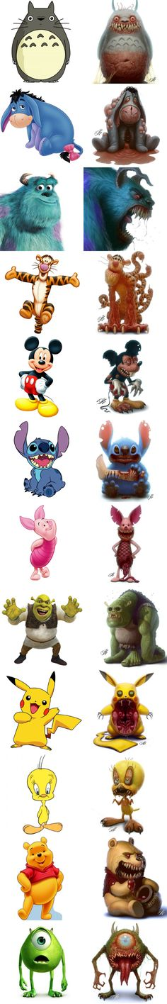 If cute cartoon characters were monsters by Dennis Carlsson