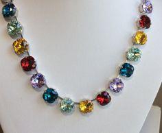 Swarovski Crystal Necklace  All 12mm by CathieNilsonDesigns, $190.00